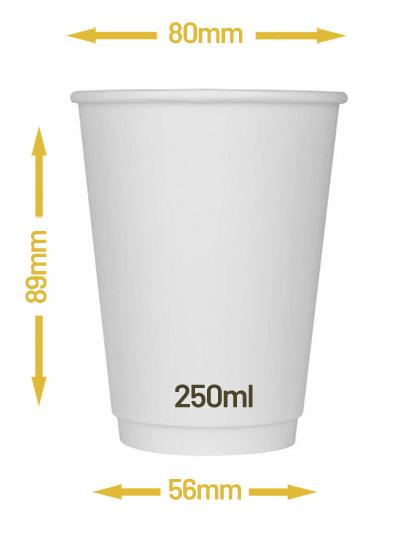 Kubek dwuwarstwowy biały 250ml