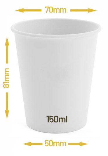 Kubek jednowarstwowy biały 150ml