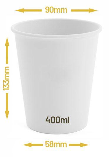 Kubek jednowarstwowy biały 400ml