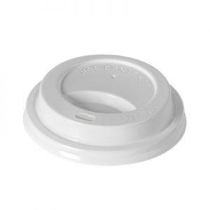 Wieczko plastikowe do kubka - białe