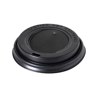 Wieczko plastikowe do kubka - czarne