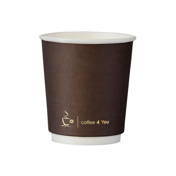Kubek papierowy dwuwarstwowy wzór uniwersalny Coffe 4 You